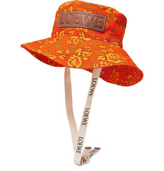 cbff4c3410f924 Loewe - + Paula's Ibiza Leather-Appliquéd Printed Cotton-Canvas Bucket Hat