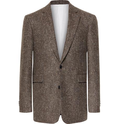 CALVIN KLEIN | CALVIN KLEIN 205W39NYC - Wool-Tweed Blazer - Brown | Goxip