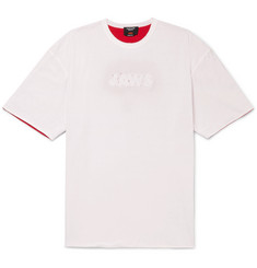CALVIN KLEIN 205W39NYC Oversized Distressed Printed Double-Faced Cotton-Jersey T-Shirt