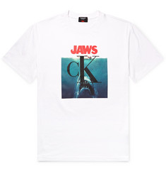 CALVIN KLEIN 205W39NYC Jaws Printed Cotton-Jersey T-Shirt