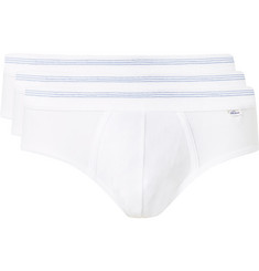 Schiesser Karl Heinz Three-Pack Cotton-Jersey Briefs