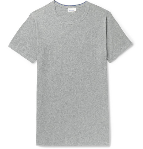 Schiesser Ludwig Slim-Fit Mélange Stretch-Cotton Jersey T-Shirt