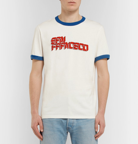Printed Cotton Jersey T Shirt by Sandro