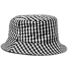 Sandro - Reversible Gingham Shell Bucket Hat