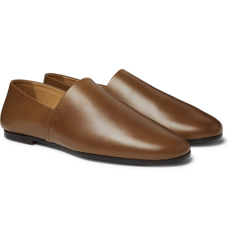 Leather Loafers - Brown