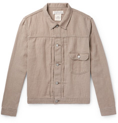 Remi Relief Ramie, Linen and Wool-Blend Trucker Jacket
