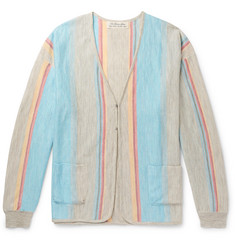 Remi Relief Striped Linen Cardigan