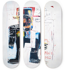 The SkateRoom - + Jean-Michel Basquiat Set of Three Printed Wooden Skateboards