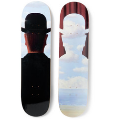 The SkateRoom + René Magritte Set of Two Printed Wooden Skateboards