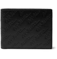 오프화이트 Off-White Logo-Debossed Leather Billfold Wallet,Black