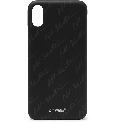 Logo Print I Phone X Case by Off White