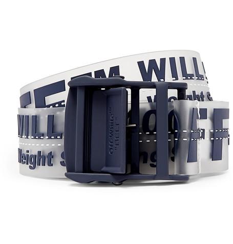 Off-White – 3.5cm Navy Industrial Pvc Belt – Navy