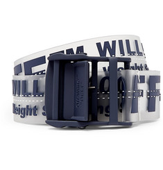Off-White 3.5cm Navy Industrial PVC Belt