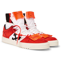 Off-White - Off-Court Nubuck and Canvas High-Top Sneakers