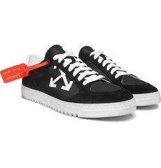 Off-White - 3.0 Polo Suede-Trimmed Shell Sneakers