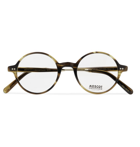 62366604e190 MoscotGittel Round-Frame Tortoiseshell Acetate and Gold-Tone Titanium  Optical Glasses