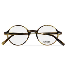 Moscot Gittel Round-Frame Tortoiseshell Acetate and Gold-Tone Titanium Optical Glasses