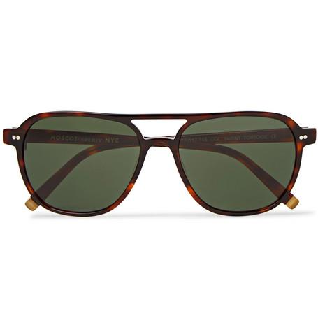 d1da79d9f6 Moscot - Bjorn Aviator-style Tortoiseshell Acetate Sunglasses -  Tortoiseshell