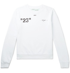 Off-White Logo-Print Loopback Cotton-Jersey Sweatshirt