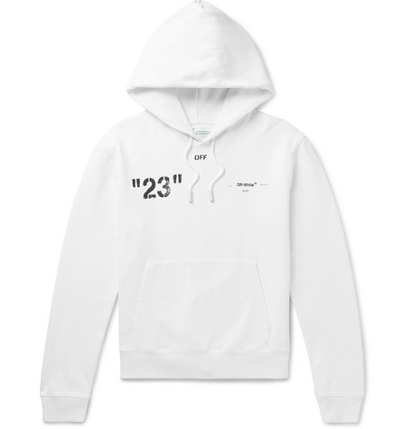 Logo Print Loopback Cotton Jersey Hoodie by Off White