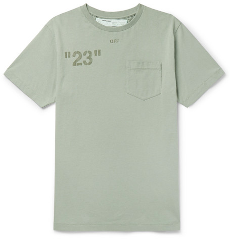 printed-embroidered-cotton-jersey-t-shirt by off-white