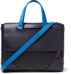 Tod's Gommino Full-Grain Leather Briefcase