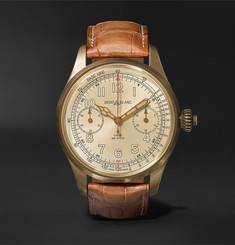 Montblanc 1858 Chronograph Tachymeter Limited Edition 100 44mm Bronze and Alligator Watch