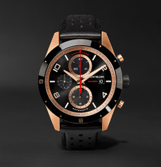 Montblanc TimeWalker Automatic Chronograph 43mm 18-Karat Red Gold, Ceramic and Leather Watch, Ref. No. 117051