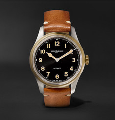 Montblanc - 1858 Automatic 40mm Stainless Steel, Bronze and Leather Watch