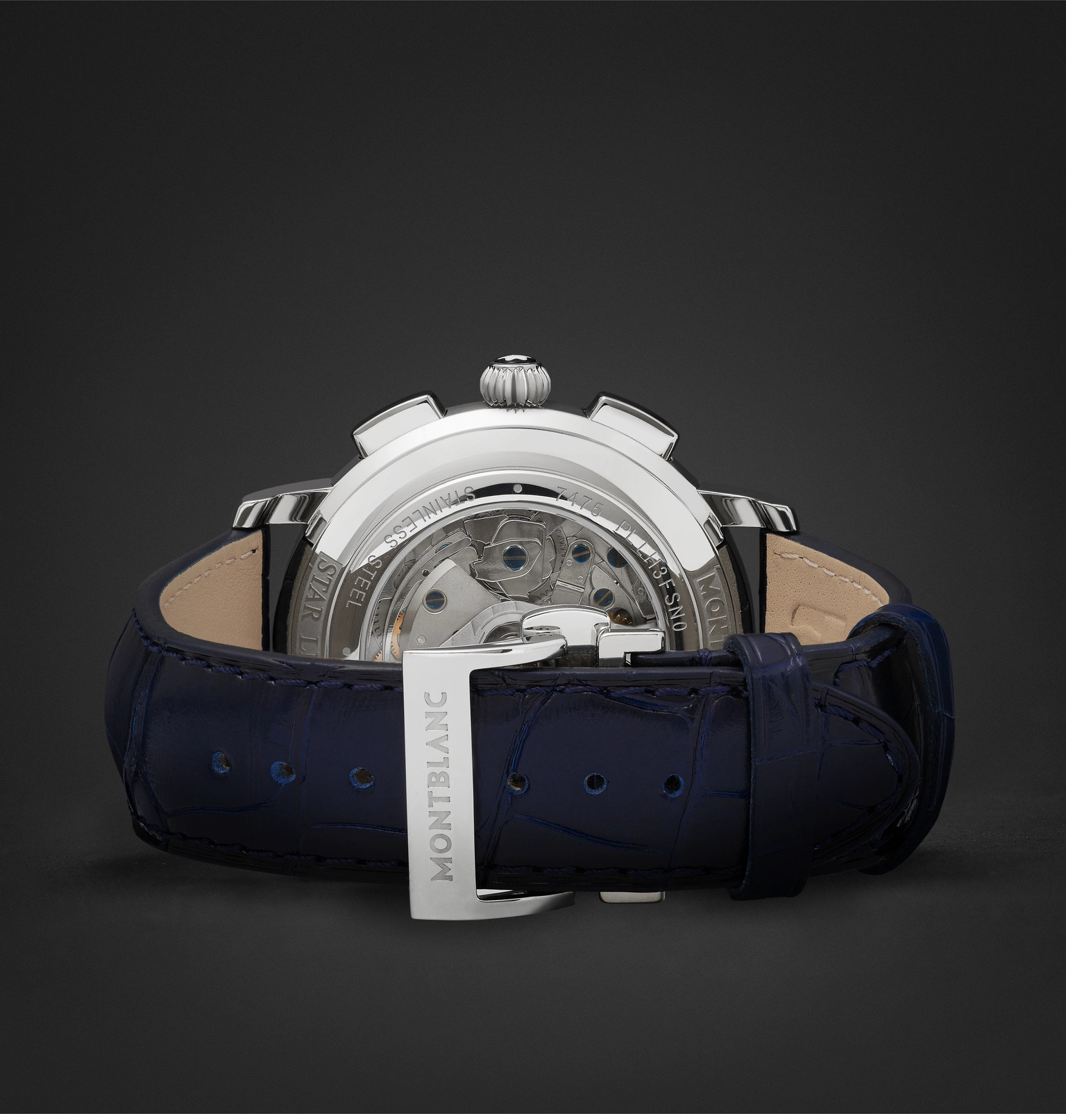 eedf29b1a2c MontblancStar Legacy Automatic Chronograph 42mm Stainless Steel and  Alligator Watch
