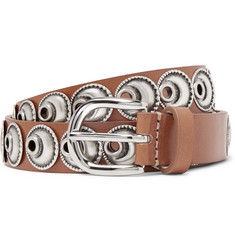 Isabel Marant Zaphi 2cm Tan Embellished Leather Belt