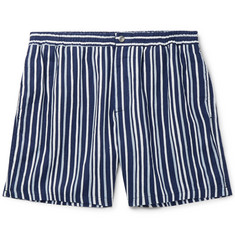Tod's Striped Linen Shorts