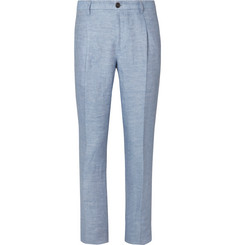 Tod's Slim-Fit Tapered Washed-Linen Trousers