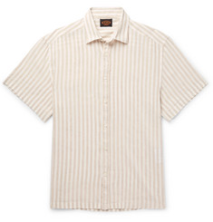 Tod's Striped Linen-Blend Shirt
