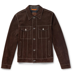 Tod's Slim-Fit Suede Trucker Jacket