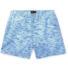 Tod's Mid-Length Printed Swim Shorts