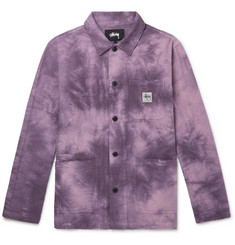 Stüssy Tie-Dyed Cotton-Seersucker Chore Jacket