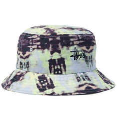 Stüssy Leary Logo-Embroidered Tie-Dyed Cotton Bucket Hat