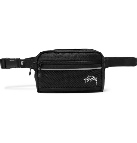 Stüssy Logo-Print Ripstop and Mesh Belt Bag