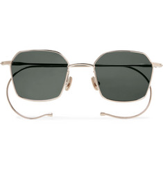 Native Sons  Chino Hexagon-Frame Gold-Tone Sunglasses