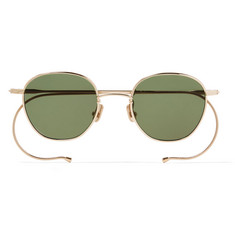 Native Sons  Roy Round-Frame Gold Sunglasses