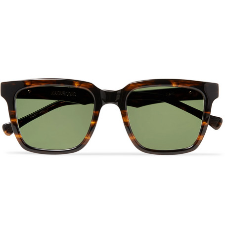 NATIVE SONS Kent Square-Frame Tortoiseshell Acetate Sunglasses in Black