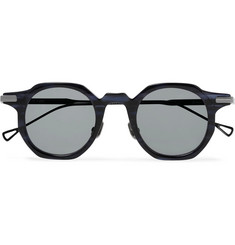 Native Sons  Bradbury Round-Frame Acetate and Gunmetal-Tone Sunglasses