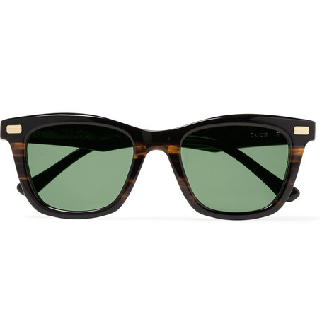 NATIVE SONS Dakota D-Frame Acetate Sunglasses in Blue