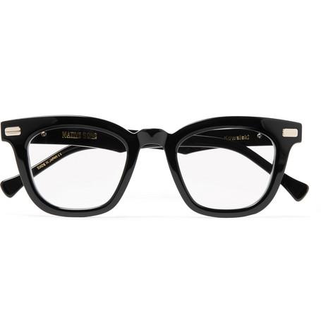 f155f135726 Shop Native Sons Kowalski D-Frame Acetate Optical Glasses In Black