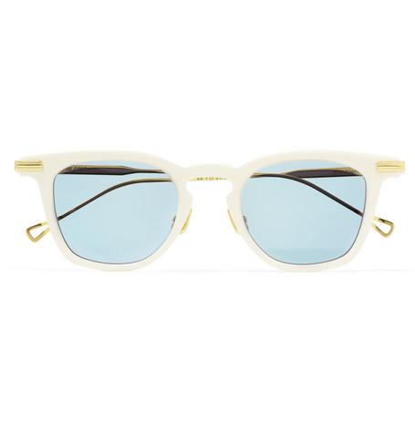 NATIVE SONS Verne D-Frame Gold-Tone And Acetate Sunglasses in Blue