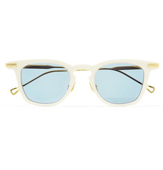 Native Sons  Verne D-Frame Gold-Tone and Acetate Sunglasses