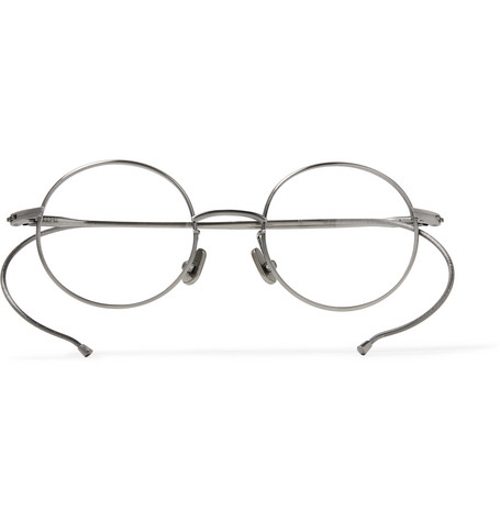 NATIVE SONS Seeger Round-Frame Silver-Tone Optical Glasses in Gray