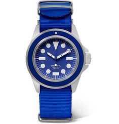 U1 Automatic Brushed Stainless Steel And Webbing Watch - Navy
