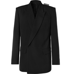 Balenciaga Black Twill Suit Jacket